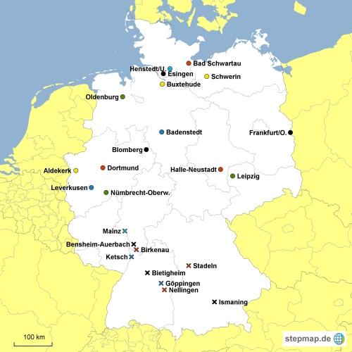 Karte mit Grp-Einteilung